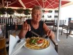Eating in Nea Moudania, Greece