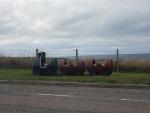A flower train in Portknockie, Scotland