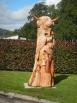 Wood carving in Contin, Scotland