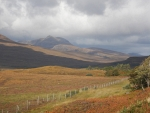 Landscape on the A835 in the Highlands