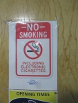 No electronic cigarettes allowed, Scotland