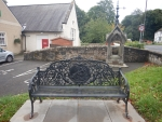 Wrought iron bank in Cambusbarron