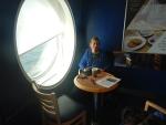 A quiet corner on the ferry, Scotland