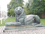 Lion statue at the monument to the unknown soldier, Sofia