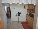 Kitchen in our apartment, Paralia Dionysiou, Greece