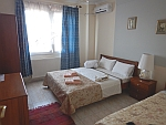 Bedroom of our apartment in Paralia Dionysiou