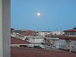 Full moon in Paralia Dionysiou, Greece