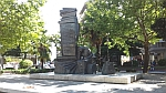 Monument on the square of the martyrs of the Jewish holocaust in Larissa, Greece