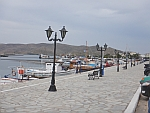 The boulevard of Karystos on Evia