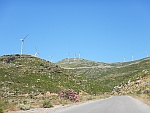 Windmills in the south of Evia