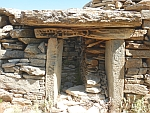 The entrance of a dragon house (drakospiti) at Styra