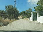 The road ends in the north of Salamina