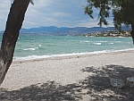 The beach at Vromopousi on Salamina, Greece