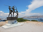 Salomomaxon monument and burial mound, in memory of the battle of Salamis, 480 BC., Greece