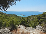 View of the sea from the cave of Euripides