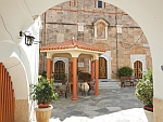 Courtyard of the Panagia Faneromeni monastery, Greece