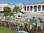 Mermaid fountain in Poros, Greece