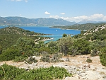 The island of Poros is just off the coast of the Peloponnese