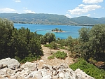 The islet of Daskalio off the coast of Poros, Greece