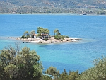 The islet of Daskalio off the coast of Poros, Greece
