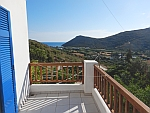 View from our balcony on Andros on the Phellos bay, Greece