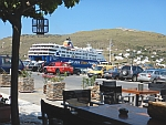 The port of Andros in Gavrio, Greece