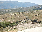 Everywhere we see stone walls in the landscape on the island of Andros, Greece