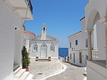 St. Barbara church in Andros city, Greece