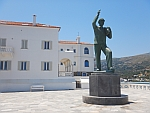 Monument to the unknown sailor in Andros city, Greece