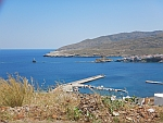 Andros city from a distance, Greece