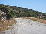 The paved road ends, Andros, Greece