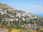 The village of Kochylos on Andros, Greece