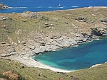 The Lydio beach on the east coast of Andros, Greece