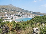Batsi on the west coast of the island of Andros, Greece