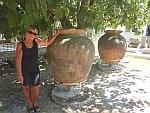 In the garden of the Eretria museum, Greece