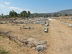 The extensive excavation site of Eretria, Greece