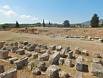 Sorted stones before the Eretria amphitheater, Greece