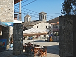 It is pleasant to sit on the square of Afytos, Greece