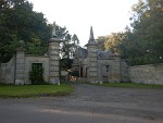 Gate and gate lodge at Stichhill in the Borders, Scotland