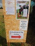 Archaeological excavation in Ancrum, Scotland