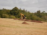 Excavation of a medieval building in Ancrum, Scotland