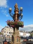 Mercat Cross in the center of Jedburgh, Scotland
