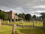 Church with cemetery in Hobkirk, Scotland