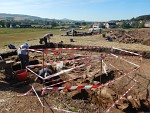 Archeological dig at Ancrum, Scotland