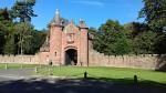 Castle gate in Ayton, Scottish Borders, Scotland