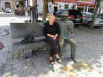 Elisabeth with Georges Simenon, Belgium