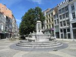 Fountain at Saint Paul's Cathedral, Liege, Belgium