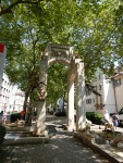 Triumphal Arch in Konstanz at the Altstadt car park, Germany