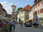 Women's Tower in Wangen from the city center, Germany