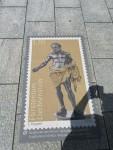 Stamp art on the street, Vaduz, Liechtenstein